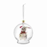 Christmas Mouse in Bauble Ornament - Steiff
