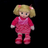 Rag Doll - Pink stripy dress - Misc Items - Various Brands