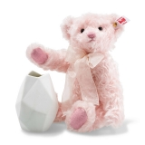 Rose Teddy Bear with Rosenthal Vase - Steiff