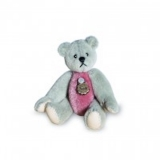 Teddy Dark-Grey / Pink 5.5cm - Hermann Teddy Original
