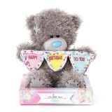 Happy Birthday Bunting Bear In Box - Me to You (Carte Blanche)