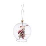 Candy Cane Mouse in Bauble Ornament - Steiff